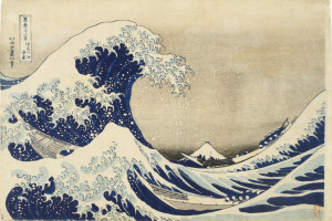 "The full ""Great Wave off Kanagawa"" by Japanese painter Hokusai"