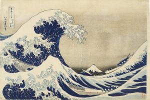 "The full ""Great Wave off Kanagawa"" by Japanese painter Hokusai"